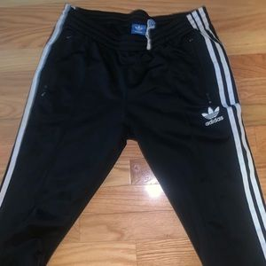 Adidas Black SST Track Pants Small